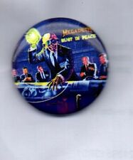 MEGADETH Rust In Peace BUTTON BADGE American Trash Metal Band  25mm Pin
