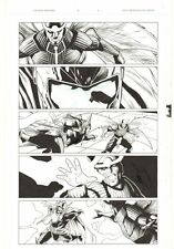 Uncanny Avengers #16 p.6 - Thor vs Uriel - 2014 art by Jay Leisten