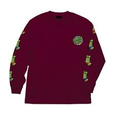 Santa Cruz x Teenage Mutant Ninja Turtles Sewer Dot Long Sleeve Burgundy Xxl