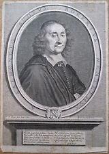 Burin, Portrait de Robert de Mentet, par R. Lochon d'après P. Mignard, 1661