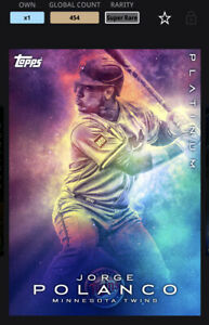 Topps MLB Bunt DIGITAL Card Platinum Galaxy Base Super Rare Jorge Polanco