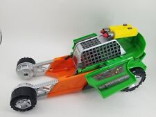 2015 Viacom Playmates TMNT Transforming Green Attack Toy Car w/ accessories Good