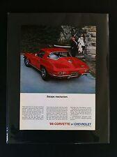 "1966 Chevrolet Corvette Cpe General Motors ""Ready to Display"" car ad 1967 1965"