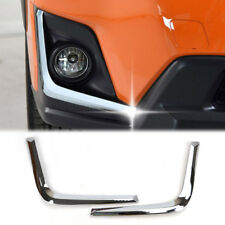 For Subaru XV 2018 Chrome Front Fog Light Lamp Eyebrow Bumper Strip Cover Trim