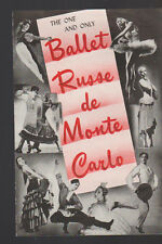 Ballet Russe de Monte Carlo Ad Sheet 1945