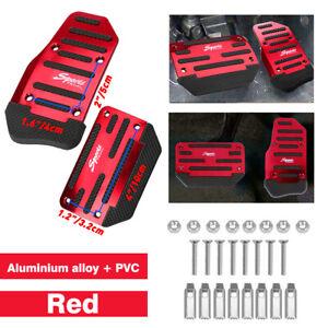 Red Non-Slip Automatic Gas Brake Foot Pedal Pad Cover Auto Car Accessories EA