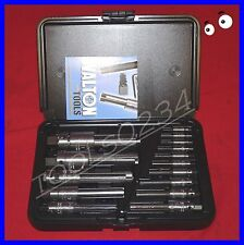 Walton 18015 15 PC Tap Extractor Set USA Made 3&4 FL SAE / Metric in case NC NF