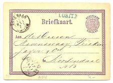 NED  EGYPT LANGST = LOBITH = BLAUW  1873   BRIEFKAART  ZEER FRAAI