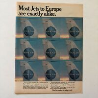 Pam Am Jets to Europe Vintage Photo Print Magazine Ad 1968