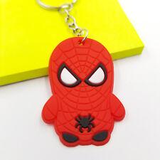 "*Us Seller* 2"" Spiderman Soft Silicone Pvc Keychain Superhero Marvel Cartoon Men"