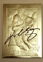 KOBE BRYANT 1996-97 SKYBOX EX2000 AUTOGRAPHED 23KT GOLD ROOKIE CARD! LEGEND!