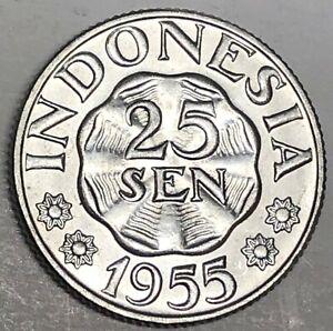 # C2629     INDONESIA   COIN,     25   SEN   1955  Unc.