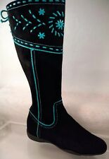 Aerosoles a2 Black Suede Boots Women US 7 /37