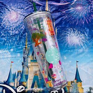 Disney Parks WDW 2021 Starbucks Parks Icon Acrylic Drink Tumbler CUP 24oz Straw