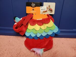 Parrot Pet Halloween Costume Dog or Cat Parrot Pet Halloween Costume Sz S NWT