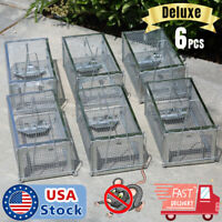 6 Pack lot Live Humane Cage Trap for rats mice chipmunks rodents Pest Control