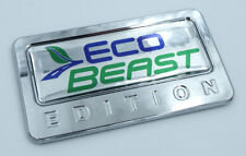 EcoBeast Edition Chrome Emblem with domed decal Car Auto motorcycle ford Badge