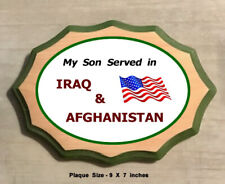 Always Action  Veteran's Service Plaque - My Son Served in Iraq and Afghanistan