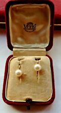 1960s 9ct GOLD LOTUS CULTURED PEARL EARRING