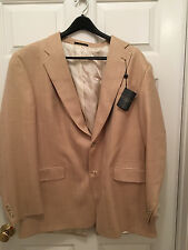 NWT Hart Schaffner Marx 46 Long 2 Button Blazer Sport Jacket 100% Wool Worsted