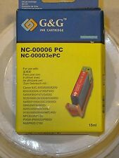 NEW G & G INK CARTRIDGE~CANON COMPATIBLE~NC-00006 PC~NC-00003ePC~CYAN~15ml