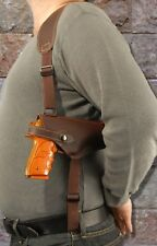 Barsony Brown Leather Horizontal Shoulder Gun Holster for Beretta PX4 Storm 4""