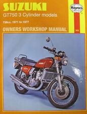 Haynes Manual 0302 - Suzuki GT750 3-Cylinder Models 71-77 - Limited Reprint!