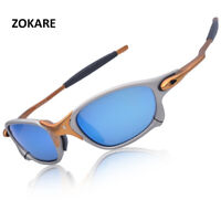 X-Metal Juliet Cyclops Sunglasses Rub Blue Polarized Lenses TITANIUM Goggles USA