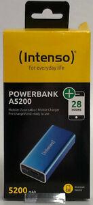 Intenso Powerbank A5200 FÜR SMART- PHONES, TABLETS U. ANDERE MOBILE GERÄTE BLAU