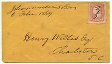 Johnsonville SC Febr 6 1869 #94 on cover to Charleston SC
