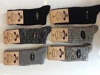 6 Pairs Mens Thick Chunky Wool Work Hiking Boot Socks Size UK  6-11   VCPYHG