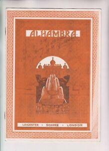 VINTAGE ORIGINAL THEATRE PROGRAMME - Alhambra Leicester Square London, June 1924