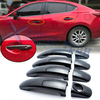 Carbon Fiber Style Exterior Door Handle Overlay Cover Trim For Ford Focus Escape
