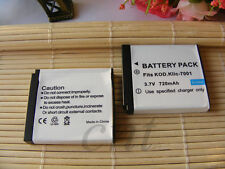 2X KLIC-7001 Battery for Kodak Cameras V550 V570 V610 M1063 M1073 M763 M853 M893