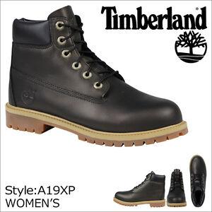 Timberland GIOVANILE 15.2Cm nero pelle scarpe di avvio