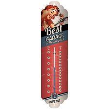 Termometro in Latta Vintage  Best Garage - Red 7 x 28 in metallo decorato