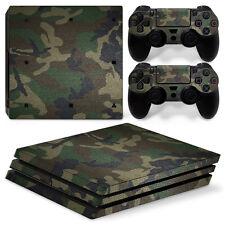 Playstation 4 PS4 Pro Vinyl Skin Folie Aufkleber Sticker Camouflage Bund Army