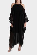 Wayne Cooper Events Maxi Kaftan With Sequin Sleeve - Black