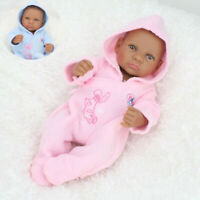 10-11 inch DIY Reborn Doll Clothes Outfit Newborn Baby Girl Boy Romper Pink Blue