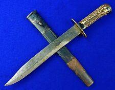 German Germany WWI WW1 Hunting Fighting Knife w/ Scabbard