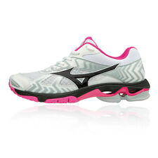 Mizuno Womens Wave Bolt 7 Court Shoes Pink White Sports Squash Badminton
