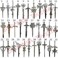 "Scottish Kilt Pins Various Design Chrome Finish 4"" Highland Pin & Brooch Celtic"