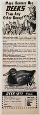 1954 Print Ad Deeks Duck Hunting Decoys Salt Lake City,Utah