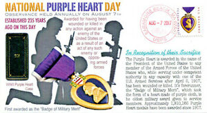 COVERSCAPE computer generated 235th anniversary of the Purple Heart event cover