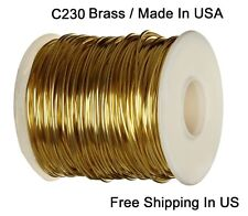RED BRASS ROUND WIRE 20 GA  220 FT. 10 OZ  SOFT  SOLID WIRE WRAPPING ON SPOOL