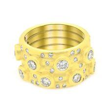 18K Yellow Gold 2.70 Ct Pave Style Diamond Ring Size 6.5