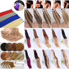 Seamless Tape In Skin Weft 100% Remy Human Hair Extensions 16Inch-24Inches 20Pcs