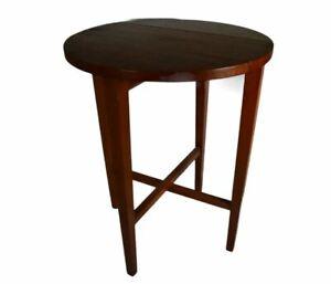 Vintage Mid Century Teak Plant Stand Coffee Folding Poul Hundevad Table (3)