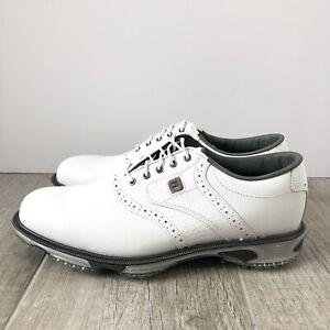 FootJoy DryJoys Tour Golf Shoes 53673 White/White Croc Men's Size 10.5
