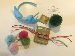 LOT of NEW GYMBOREE Crazy 8 GIRLS Hair Band Clips Ponytail Blue Pink Green